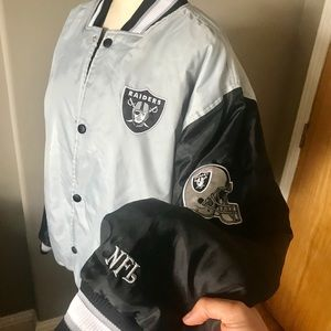 NFL Men's Oakland Raiders Reversible Jacket